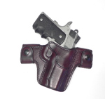 "CS1152 - Alessi Right Hand Mahogany 1911 3.5"" Barrel / Officer  Belt Holster"
