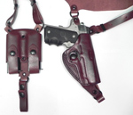 "CS1161 - Alessi Right Hand Mahogany  1911 3.5"" Bodyguard Shoulder Holster"