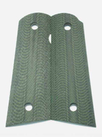 CS0489 - 1911 Green-Black 320 G10 Grips without Pin Cut