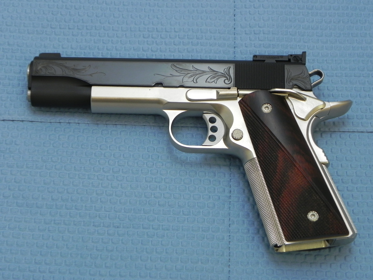 0071 - Cylinder and Slide Custom 1911 with Engraved Slide