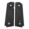 CS0493 - 1911 Black Double Diamond Dymondwood Grips with Pin Cut - Flat