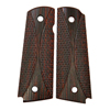 CS0496 - 1911 Red-Black Curve Checkered Dymondwood Grips with Pin Cut - Flat