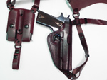 "CS1160 - Alessi Right Hand Mahogany  1911 5"" Bodyguard Shoulder Holster"