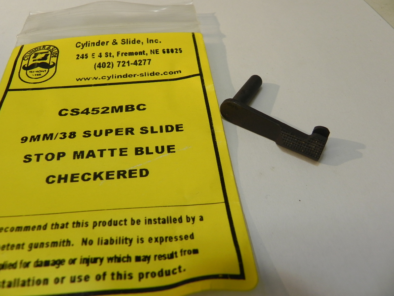 CS452MBC - 9mm/38 Super, Blue, Checkered, Slide Stop - Cast